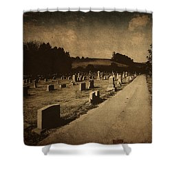Redemption Road Shower Curtain by Amy Tyler
