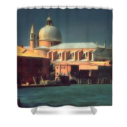 Shower Curtain featuring the photograph Redentore Giudecca Venezia I by Jack Torcello