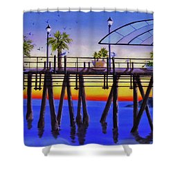 Redondo Beach Pier Shower Curtain