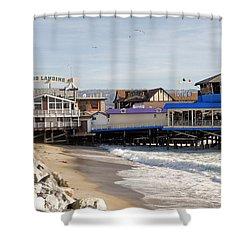 Redondo Beach Pier Shopping Shower Curtain