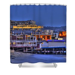 Redondo Landing Shower Curtain by Richard J Cassato