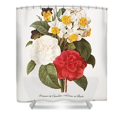 Redoute: Bouquet, 1833 Shower Curtain by Granger