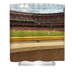 Reds Baseball Shower Curtain