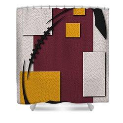 Redskins Football Art Shower Curtain