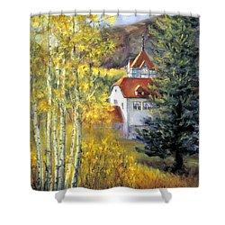 Redstone Inn Shower Curtain