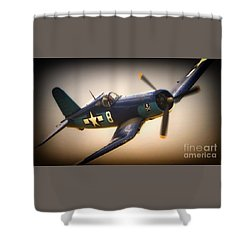 Redux For Clothing Vought F4u Corsair Jolly Roger No.8 Shower Curtain