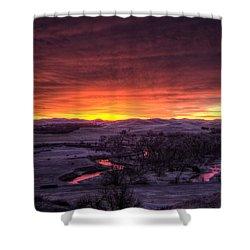Redwater Shower Curtain by Fiskr Larsen