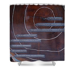 Redwood History Shower Curtain