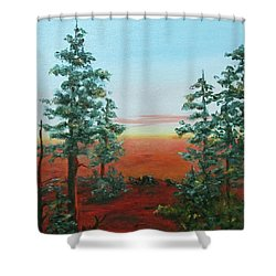Redwood Overlook Shower Curtain by Roseann Gilmore