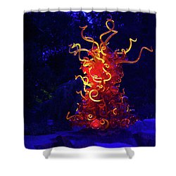 Redyellowbluenight Shower Curtain