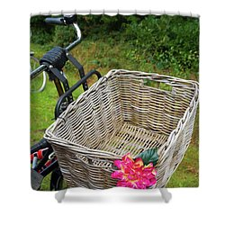Reed Bicycle Basket Shower Curtain