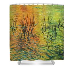 Reeds II Shower Curtain