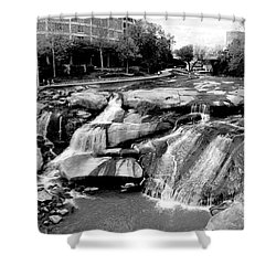 Reedy River Shower Curtain by Corinne Rhode