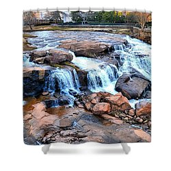 Reedy River Falls Shower Curtain