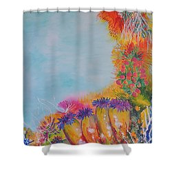 Reef Corals Shower Curtain