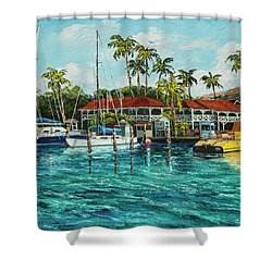 Shower Curtain featuring the painting Reef Dancer  by Darice Machel McGuire