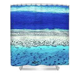 Shower Curtain featuring the photograph Reefs Edge by Az Jackson