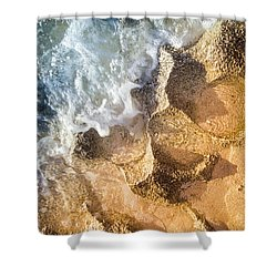 Shower Curtain featuring the photograph Reefy Textures by T Brian Jones