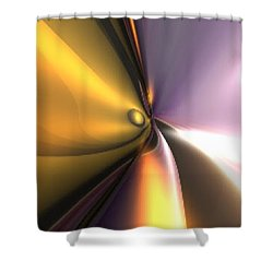 Shower Curtain featuring the digital art Reflect by Darren Cannell