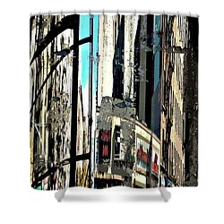 Reflected City 2 Shower Curtain by Sarah Loft