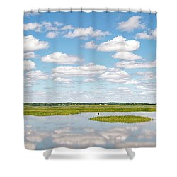 Reflected Clouds - 01 Shower Curtain