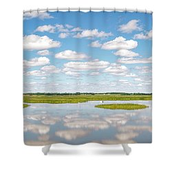 Reflected Clouds - 02 Shower Curtain by Rob Graham