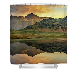 Reflected Peaks Shower Curtain