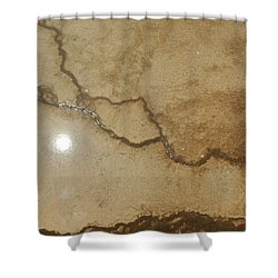 Reflected Sun In Hot Spring Shower Curtain by Jayne Wilson