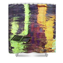 Reflecting Abstract Shower Curtain