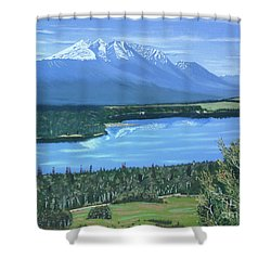 Reflecting Across The Valley Shower Curtain