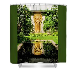 Shower Curtain featuring the photograph Reflecting Art by Greg Fortier