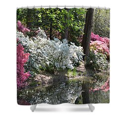 Reflecting Azaleas Shower Curtain