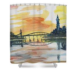 Reflecting Bridge Shower Curtain