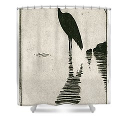 Reflecting Shower Curtain by Charles Harden