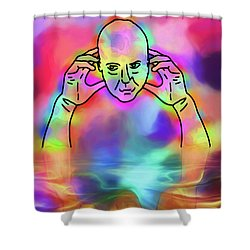 Shower Curtain featuring the digital art Reflecting Contemplation by John Haldane