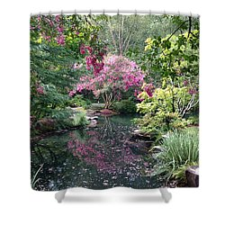 Reflecting Crape-myrtles Shower Curtain