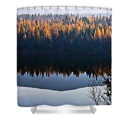 Reflecting On Autumn Shower Curtain