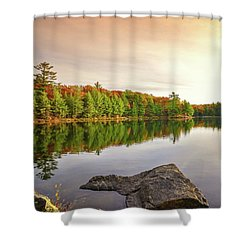 Reflecting On Lake Of Bays Shower Curtain