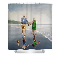 Reflecting Happiness Shower Curtain