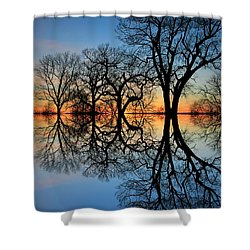 Shower Curtain featuring the photograph Reflecting On Tonight by Chris Berry