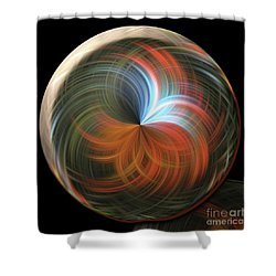 Reflecting Orb Shower Curtain