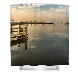 Reflecting Sky Shower Curtain by Brian Wright