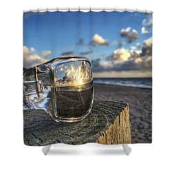 Reflecting Sunglasses Shower Curtain