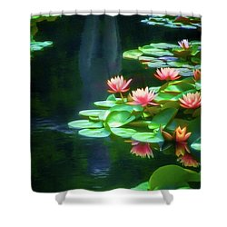 Reflecting Water Lily Pond Shower Curtain