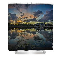 Reflection 7 Shower Curtain by Mina Isaac