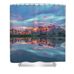 Reflection At Sunrise Shower Curtain