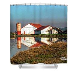 Reflection Barn  Shower Curtain