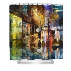 Reflection In The Rain Shower Curtain by Dragica  Micki Fortuna