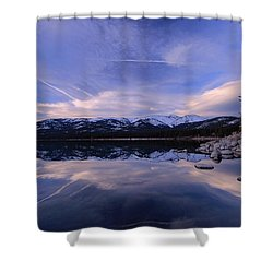 Reflection In Winter Shower Curtain