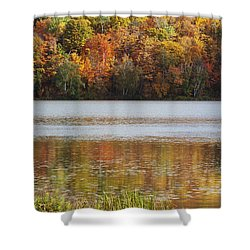 Reflection Of Autumn Colors In A Lake Shower Curtain